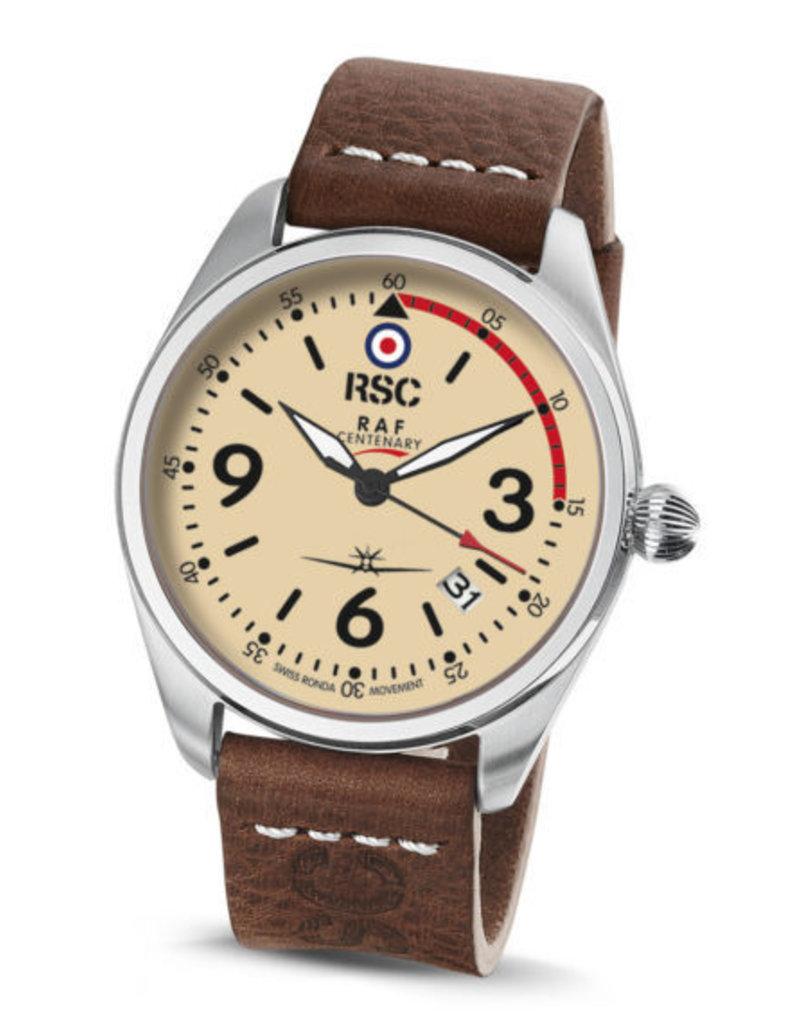 RSC Pilot Watches RSC - Mk IX dark brown leather (±3mm thick)
