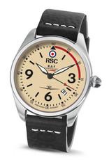 RSC Pilot Watches RSC - Mk IX - Raf Centenary black leather (±3mm thick)