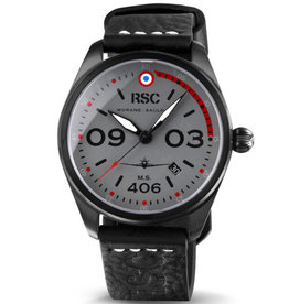 RSC Pilot Watches RSC - Morane Saulnier 406 black leather