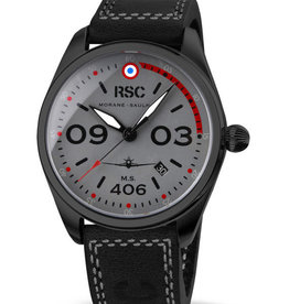 RSC Pilot Watches RSC - Morane Saulnier 406 black leather (±3mm thick)
