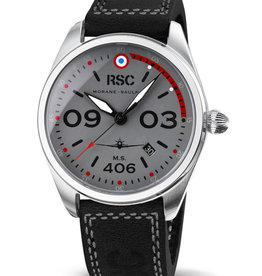 RSC Pilot Watches RSC - Morane Saulnier 406 black leather/GS (±3mm thick)