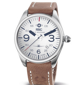 RSC Pilot Watches RSC - P-51 Mustang Pilot WatchLight Brown / Camel leather
