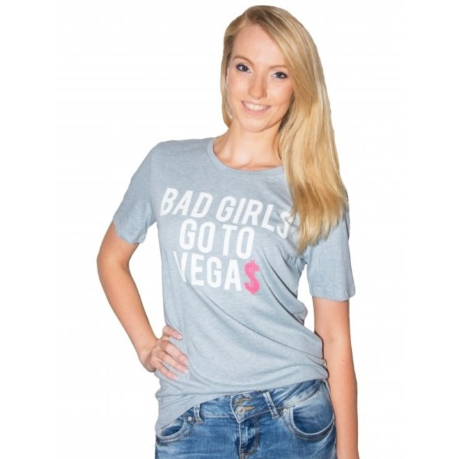 BIG BILLIONAIRE - bad girls go to vegas - t shirt - blauw