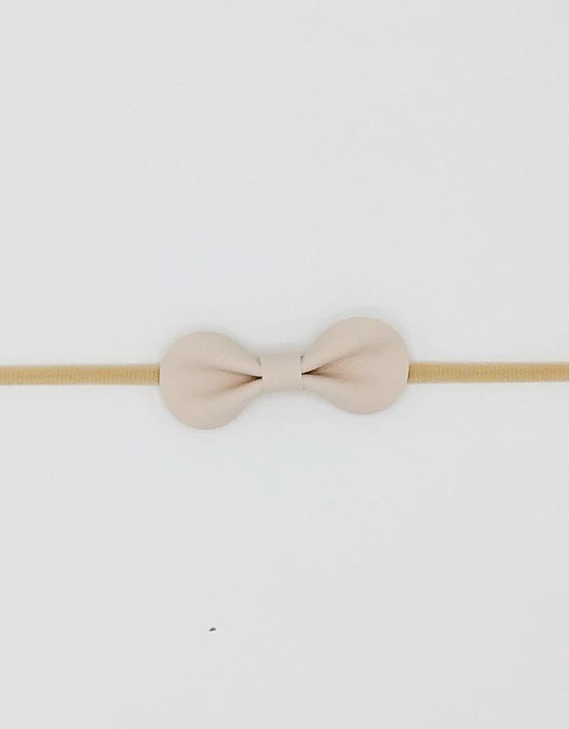 Noah & Sisi Noah & Sisi - Kunstleer haarbandje nylon creme