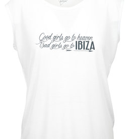 CDKN_Women CDKN_women - modal sleeveless T-shirt -  white - Ibiza