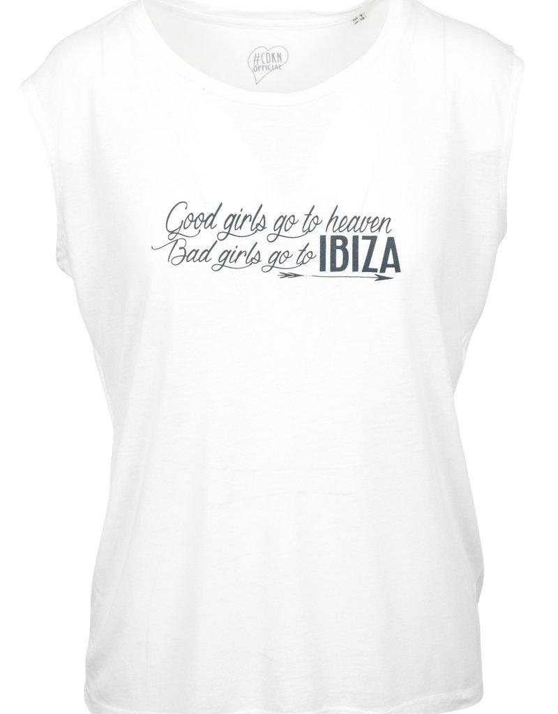 CDKN_Women CDKN_women - modal sleeveless T-shirt -  white - Ibiza