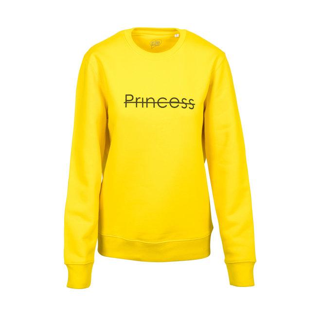 CDKN_women - crew neck sweatshirt Princess - golden yellow