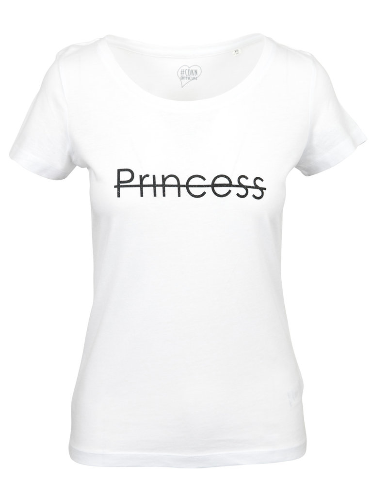 CDKN_Women CDKN_women -  modal T-shirt - white - princess sparkle