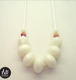 LivLuv World Livluv World - Bohemian Pearl white halsketting