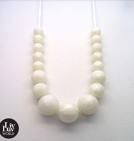 LivLuv World Livluv World - Classic Pearl white  halsketting