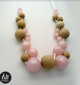 LivLuv World Livluv World - Urban Pearl pink halsketting