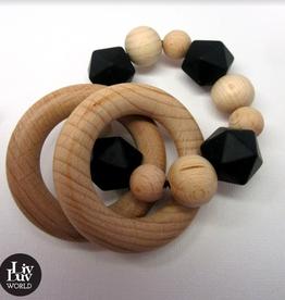 LivLuv World Livluv World - Activity Armband Black &wood
