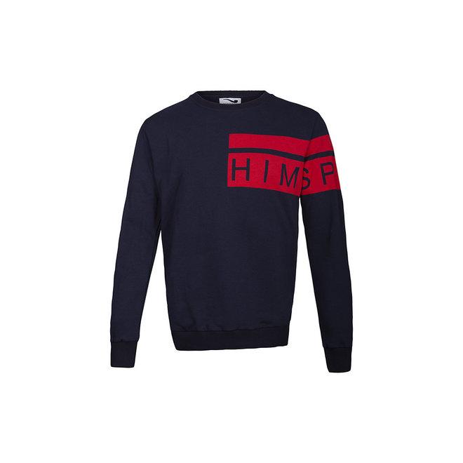 HIMSPIRE - trui - donkerblauw / rood