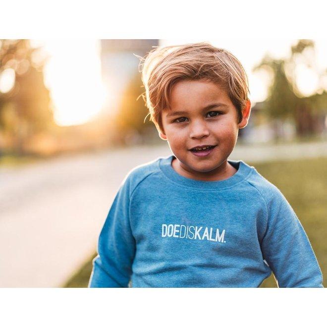 Doediskalm. - lichtblauwe trui - kinderen