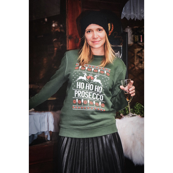 Zachte kersttrui in zwart of groen