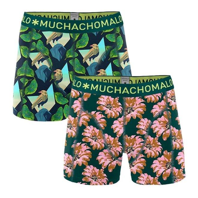 MUCHACHOMALO - Men 2-pack shorts - Digital Nature