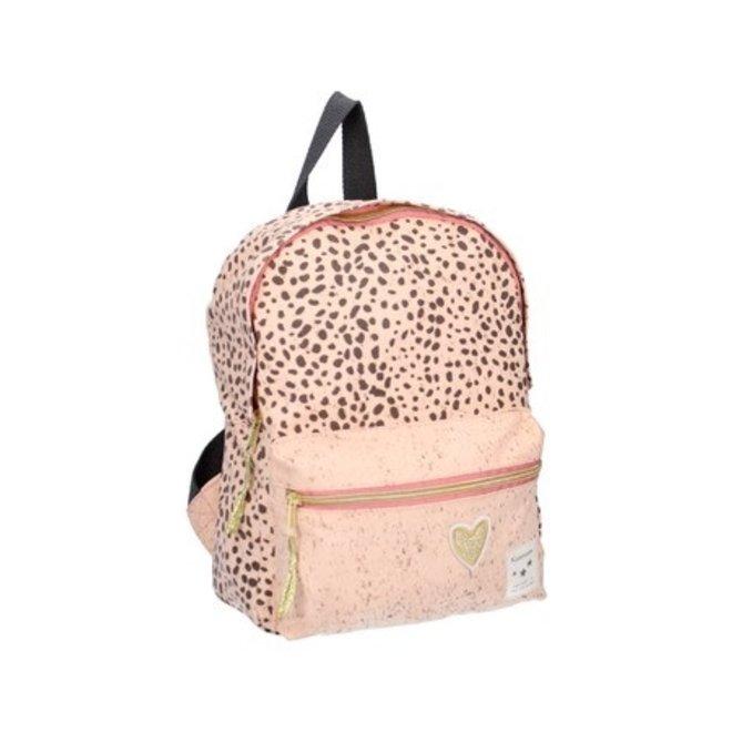 VISJES EN CO - kidzroom backpack - leopard pink S