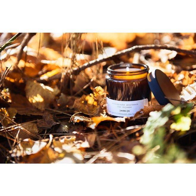 gerhilde maakt - kaars sojawas apothekersglas - jasmijn