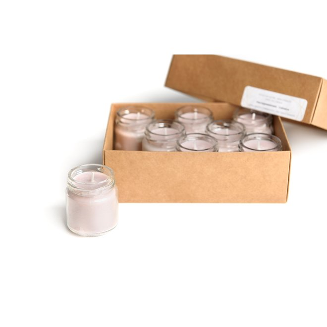 GERHILDE MAAKT -  set of eight candles soy wax - freshly washed sheets babypink