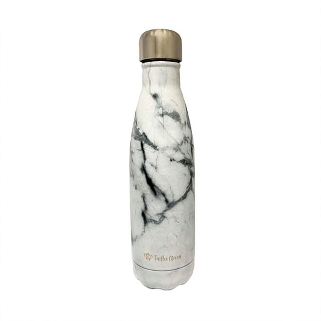 TURTLEE GREEN - drinking bottle - marble white