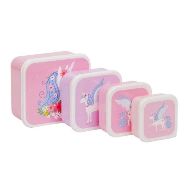 VISJES EN CO - lunch and snackboxset - unicorn