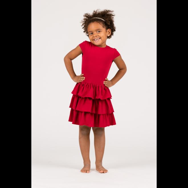 LITTLE DRESS - jurkje - nore rood