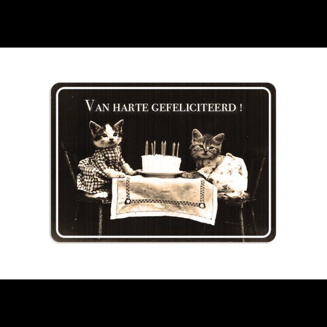 PETIT PETOU - kaart - van harte gefeliciteerd