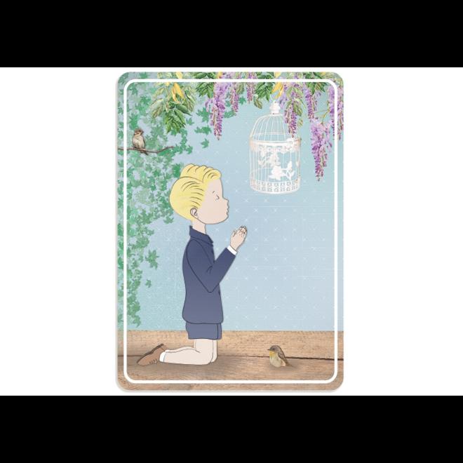PETIT PETOU - kaart - communie blauw - 502