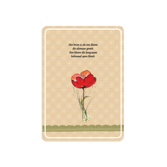 PETIT PETOU - card - life as a flower