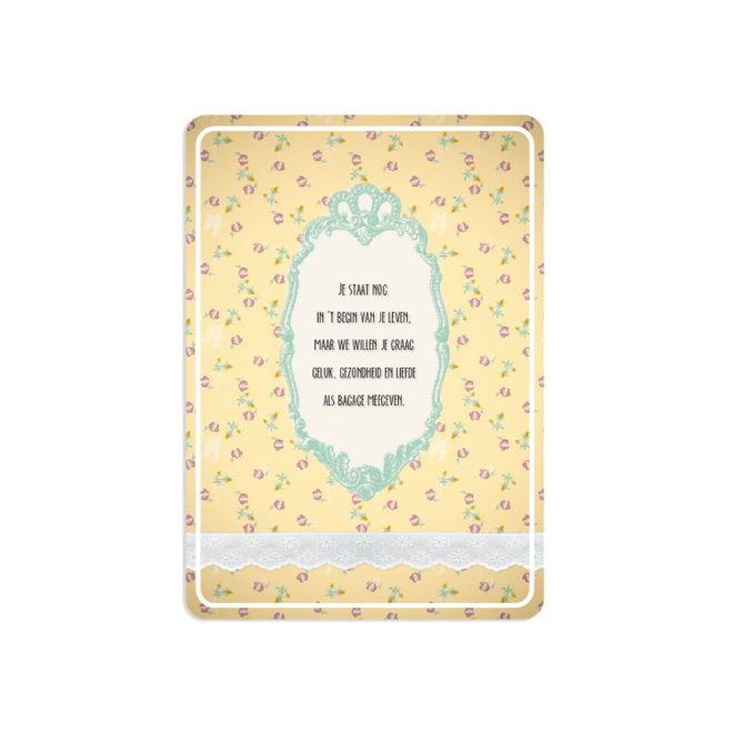 PETIT PETOU - card - congratulations on your baby