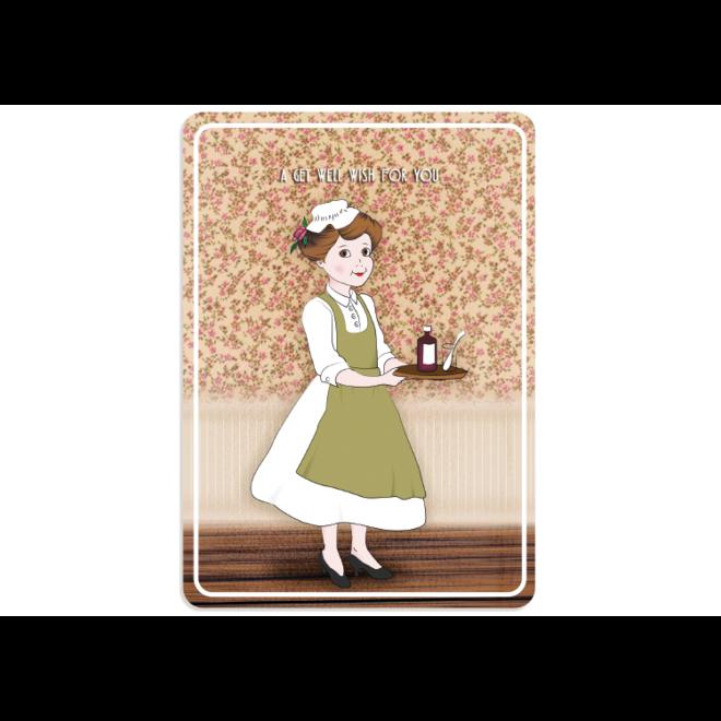 PETIT PETOU - kaart - a get well wish for you - 153
