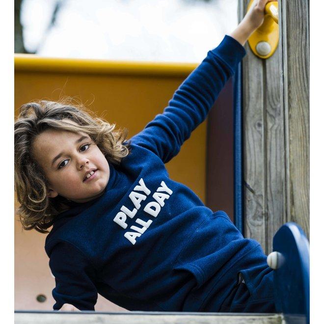 CDKN_kids - play all day hoodie - dark blue