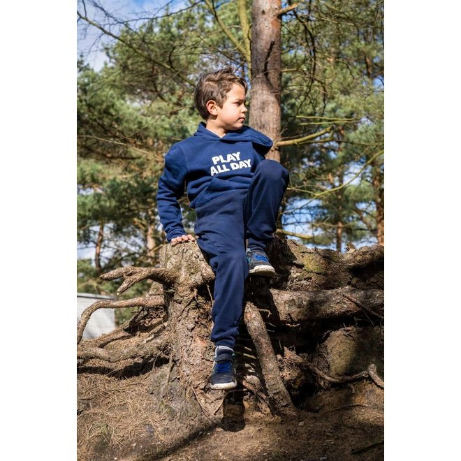 CDKN_kids - play all day hoodie - donker blauw