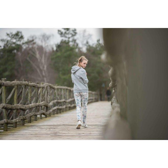 Stretch bloemenprint witte jeans Toxik3 C2117