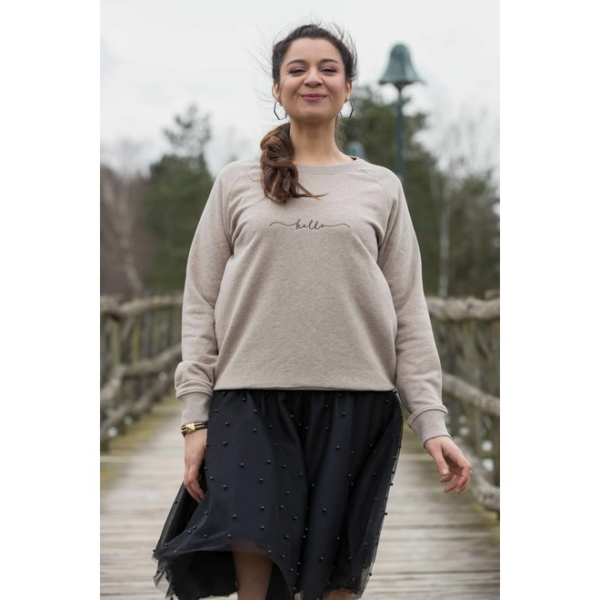 CDKN_Women - hello sweater - sand