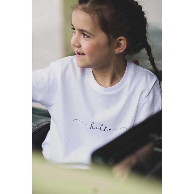CDKN_kids - hello - t shirt - wit
