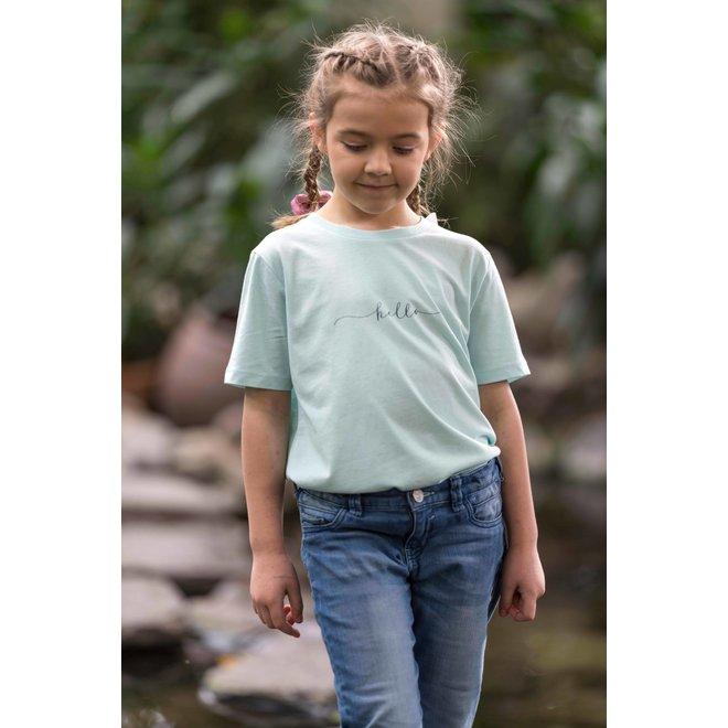CDKN_kids - hello - t shirt - licht blauw