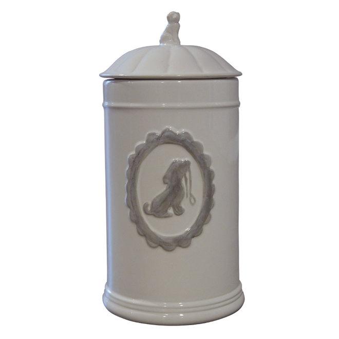 voorraadpot keramiek - wit