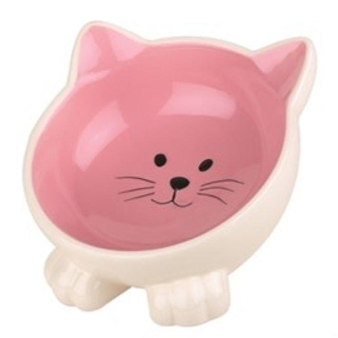 voerbak - kat pootjes - roze