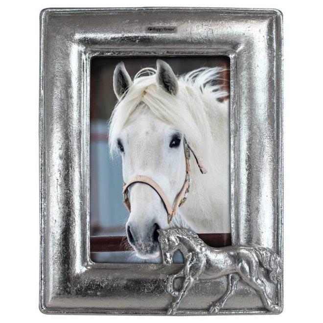 fotolijst - paard zilver