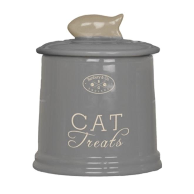 MAXPETWOOD - storage jar - cat grey