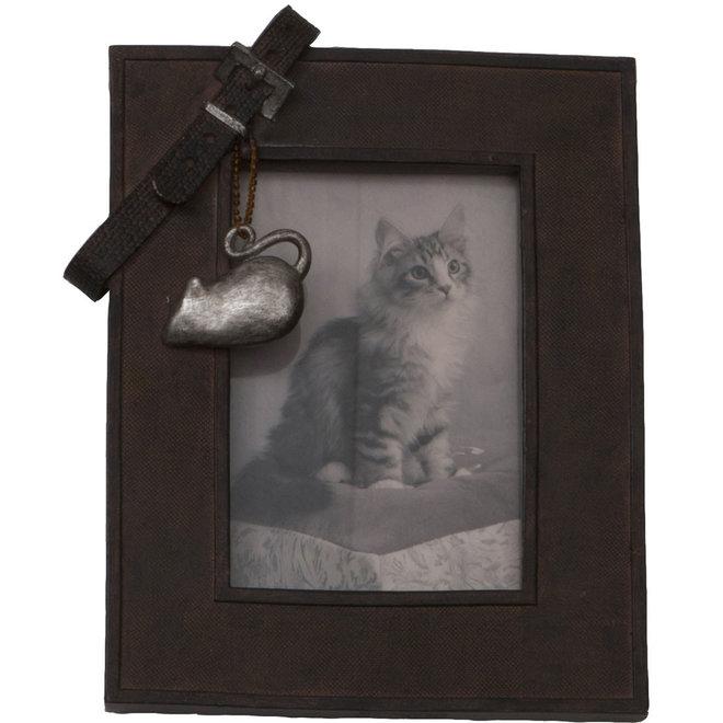 fotolijst met riem - kat