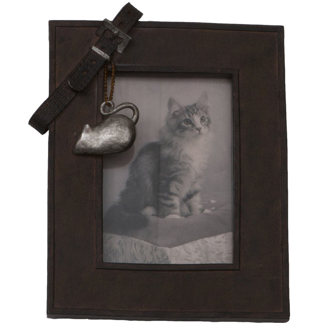 MAXPETWOOD - photo frame with belt - cat