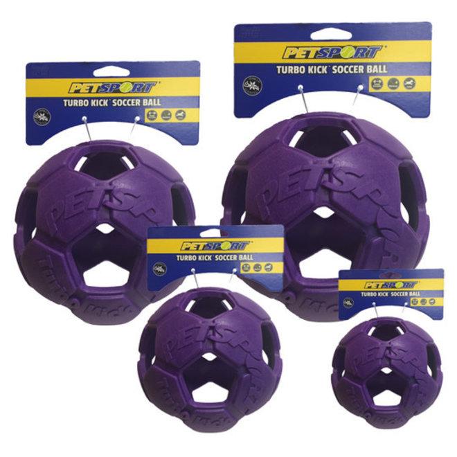 turbo kick soccer ball paars - small