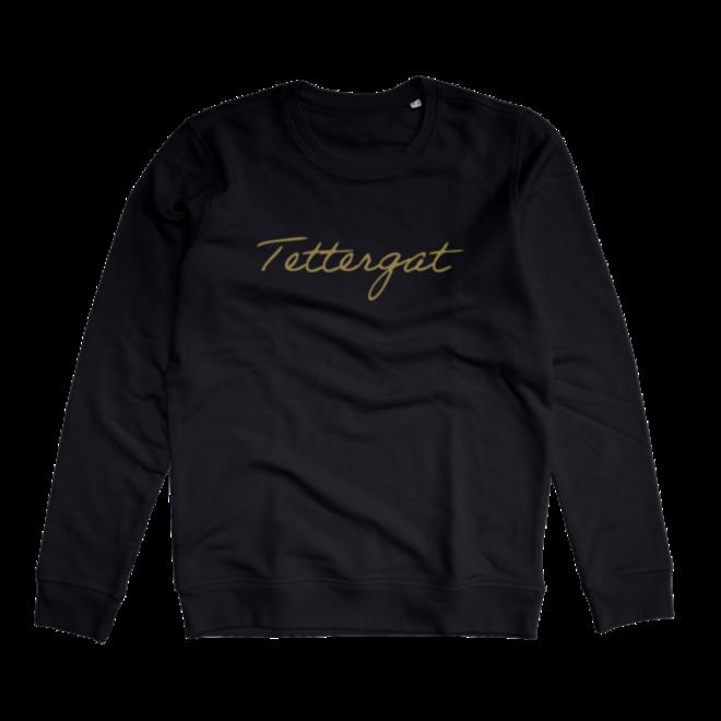 Tettergat - zwarte trui  met goud