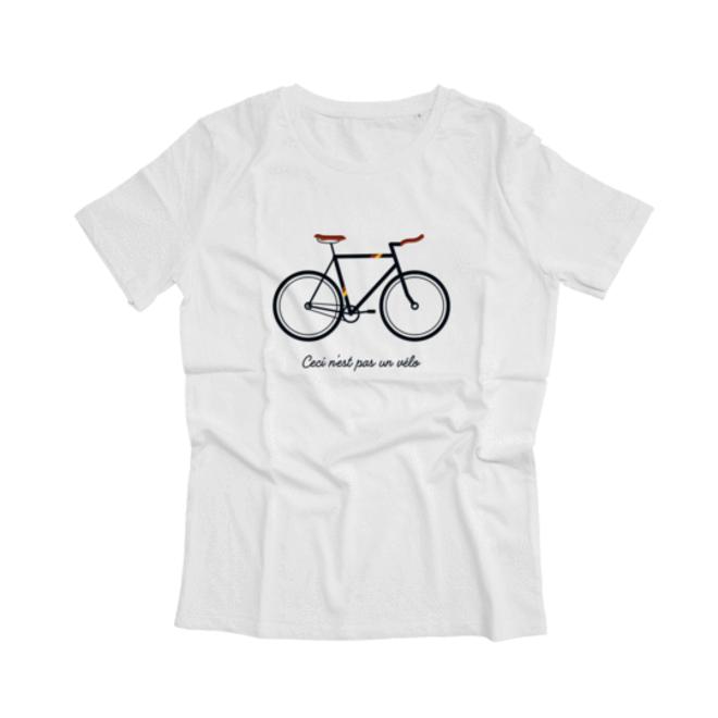 ceci n'est pas un vélo - t-shirt - wit