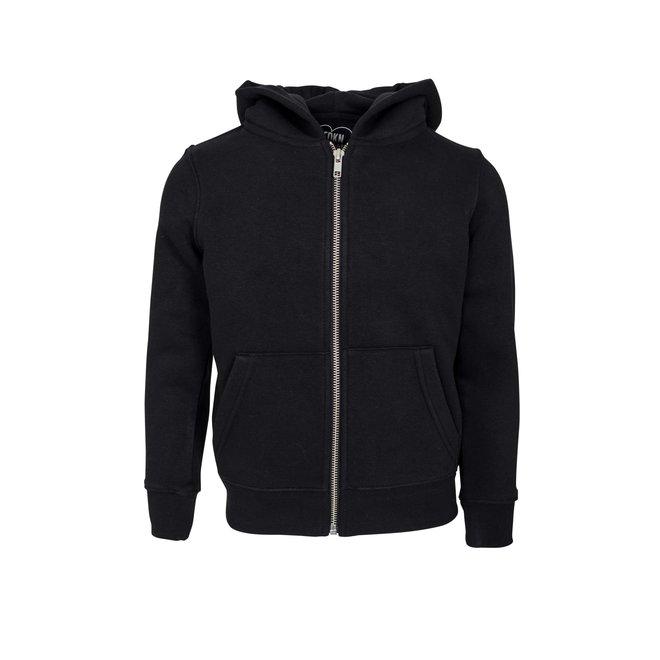 CDKN_kids - play all day zipped hoodie - black