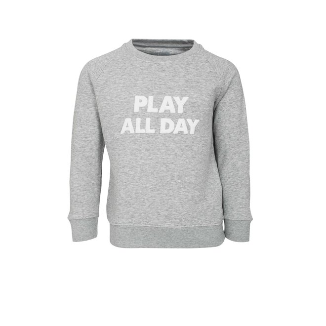 CDKN_kids - play all day - trui - grijs