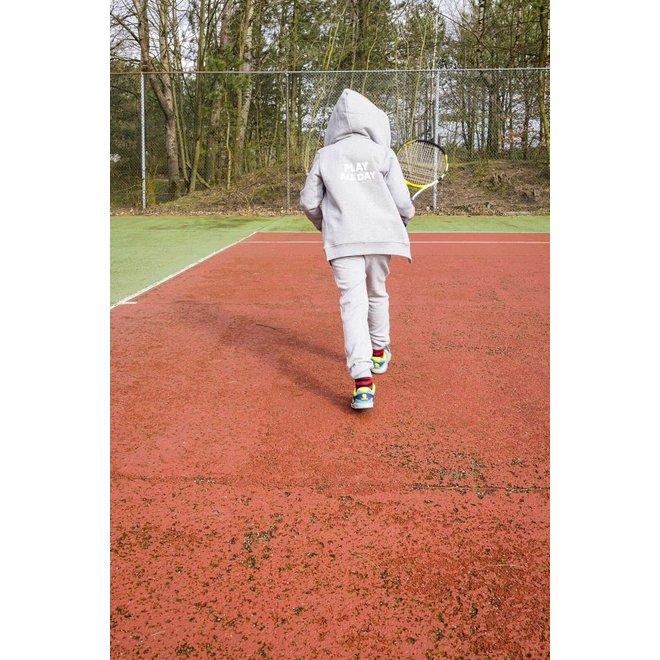CDKN_kids - play all day zipped hoodie - grey