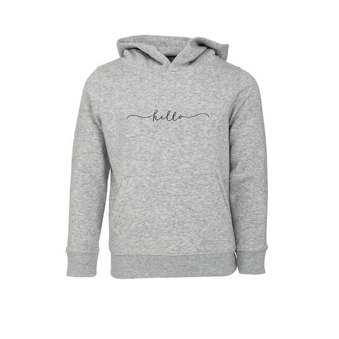 CDKN_kids - hello hoodie - grey